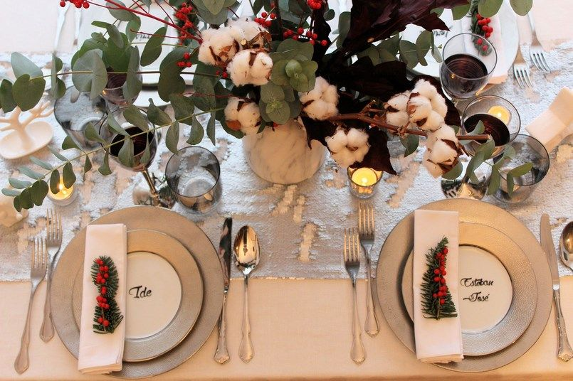Decoración de mi mesa de Navidad Berezi Moments wedding planner