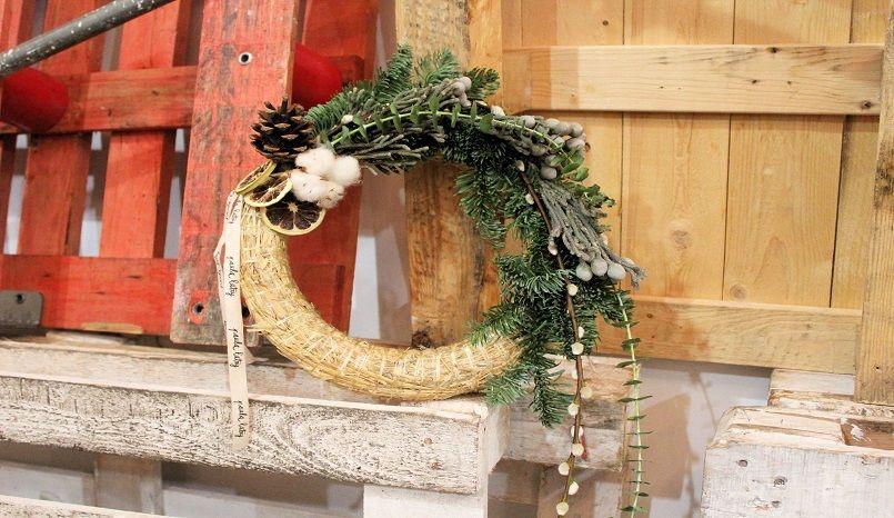 Natural Christmas taller coronas Navidad