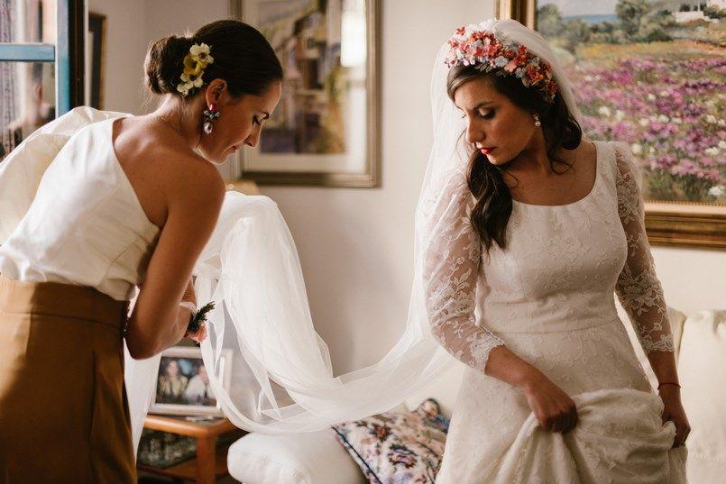 Vestido novia Carlota Hormaecheao boda en Bilbao Sara y Jamie Berezi Moments wedding planner