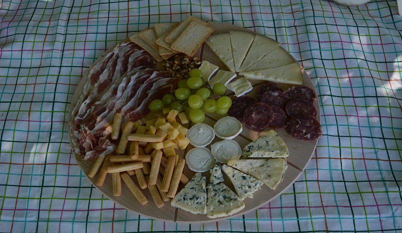 Tabla de quesos e ibérivos