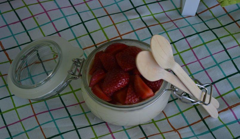 Yogurt con fresas
