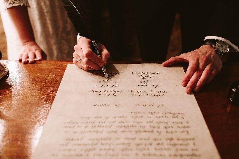Pergamino lettering Naranjas Chinas boda Ide y Rubén Berezi Moments wedding planner