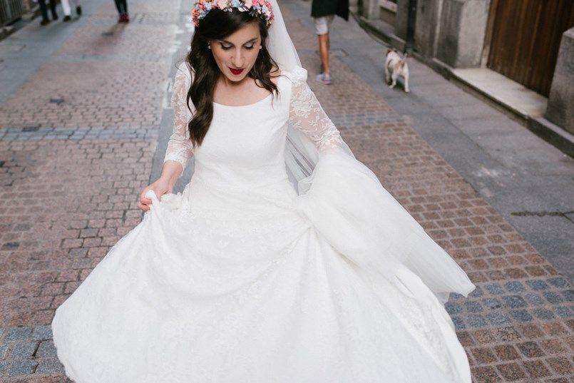 Novia Casco Antiguo Bilbao boda en Bilbao Sara y Jamie Berezi Moments wedding planner