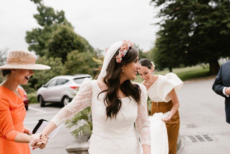 Llegada novia Boda Universidad de Deusto Bilbao Sara y Jamie Berezi Moments wedding planner