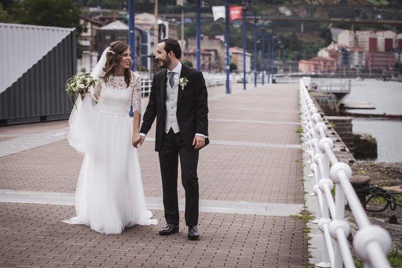 Ría de Bilbao Boda Iratxe y David Foto María Izkue Berezi Moments wedding planner