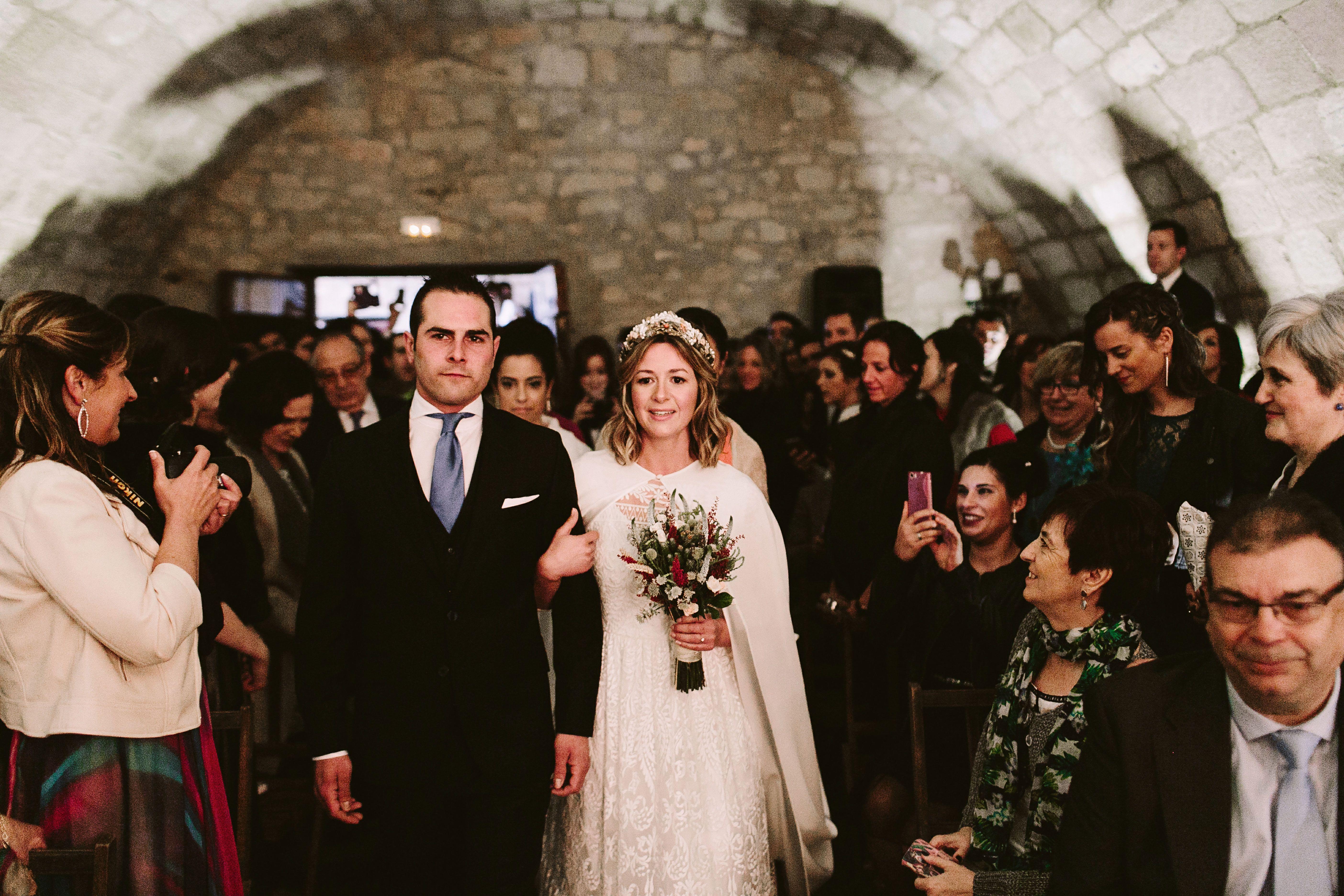 Bereziboda Ide y Rubén Berezi Moments Entrada de Novia Alicia Rueda Atelier, Monasterio del Espino